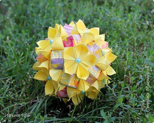 Flores de Amizade (Цветы дружбы). Автор Samuel Vinicius. Вариация от Анастасии Николаевой - Бразильские цветы (с использованием модуля от Tomoko Fuse). МК здесь - http://www.liveinternet.ru/users/4328974/post350346367 Здесь предыдущая партия - http://stranamasterov.ru/node/874262 30 модулей 4 х 8 см., 30 модулей 4 х 12 см. Размер - около 9 см. фото 9
