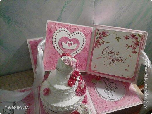 Доброго времени, у меня вот такие очередные коробочки и открытка.Ничего необычного. В этот раз сделаны вручную акварельный фон и  цветочки .3 фото фото 1