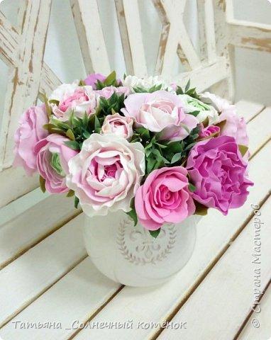 Букет цветов из фоамирана фото 2