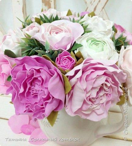 Букет цветов из фоамирана фото 3