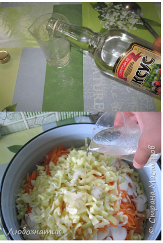 """Здравствуйте мои дорогие! Всех очень-очень рада видеть на своей страничке!!! Сегодня хочу с вами поделиться ещё одним рецептом - салат """"Золотая осень"""".  Рецепт очень удачный и получается очень вкусно, рекомендую! Зимой так приятно кушать с любыми вторыми блюдами, либо использовать как закуску (салат)  Продукты: капуста -2.200 кг лук - 600 г морковь - 800 г перец болгарский - 800 г сахар  - 1 столовая ложка соль - 3 столовые ложки подсолнечное масло 450 мл 9 % уксусная кислота - 400 мл  фото 16"""