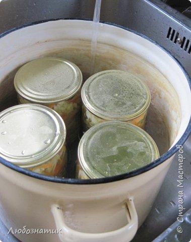 """Здравствуйте мои дорогие! Всех очень-очень рада видеть на своей страничке!!! Сегодня хочу с вами поделиться ещё одним рецептом - салат """"Золотая осень"""".  Рецепт очень удачный и получается очень вкусно, рекомендую! Зимой так приятно кушать с любыми вторыми блюдами, либо использовать как закуску (салат)  Продукты: капуста -2.200 кг лук - 600 г морковь - 800 г перец болгарский - 800 г сахар  - 1 столовая ложка соль - 3 столовые ложки подсолнечное масло 450 мл 9 % уксусная кислота - 400 мл  фото 26"""