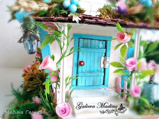 Всем привет! Спешу представить свою новую работу домик в миниатюре!!! Домик послужит не только украшением интерьера и оригинальным подарком, он также функциональный и светится как небольшой ночник. Все детальки выполнены вручную.  фото 11