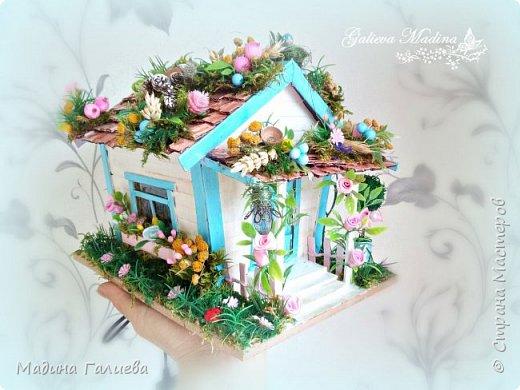 Всем привет! Спешу представить свою новую работу домик в миниатюре!!! Домик послужит не только украшением интерьера и оригинальным подарком, он также функциональный и светится как небольшой ночник. Все детальки выполнены вручную.  фото 12