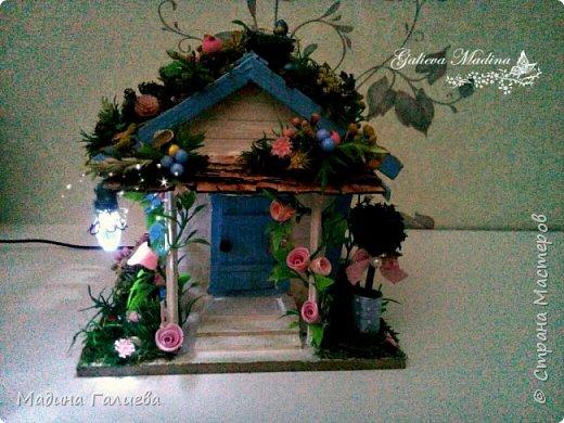Всем привет! Спешу представить свою новую работу домик в миниатюре!!! Домик послужит не только украшением интерьера и оригинальным подарком, он также функциональный и светится как небольшой ночник. Все детальки выполнены вручную.  фото 19