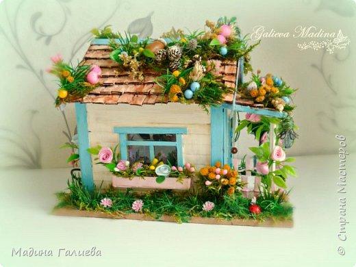 Всем привет! Спешу представить свою новую работу домик в миниатюре!!! Домик послужит не только украшением интерьера и оригинальным подарком, он также функциональный и светится как небольшой ночник. Все детальки выполнены вручную.  фото 1