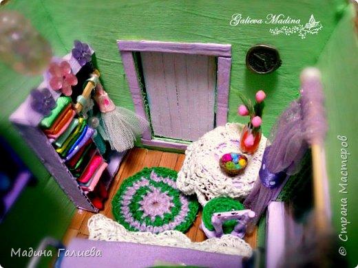 Всем привет! Спешу представить свою новую работу домик в миниатюре!!! Домик послужит не только украшением интерьера и оригинальным подарком, он также функциональный и светится как небольшой ночник. Все детальки выполнены вручную.  фото 20