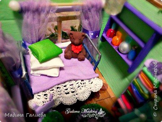 Всем привет! Спешу представить свою новую работу домик в миниатюре!!! Домик послужит не только украшением интерьера и оригинальным подарком, он также функциональный и светится как небольшой ночник. Все детальки выполнены вручную.  фото 24