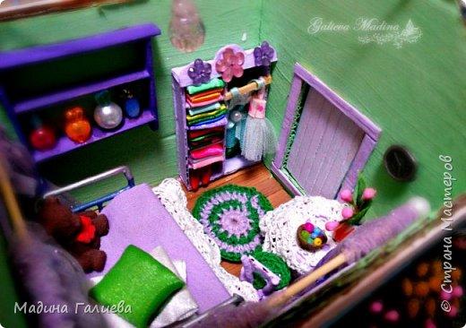 Всем привет! Спешу представить свою новую работу домик в миниатюре!!! Домик послужит не только украшением интерьера и оригинальным подарком, он также функциональный и светится как небольшой ночник. Все детальки выполнены вручную.  фото 25