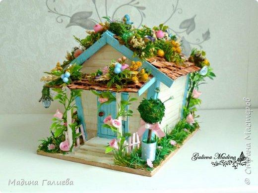 Всем привет! Спешу представить свою новую работу домик в миниатюре!!! Домик послужит не только украшением интерьера и оригинальным подарком, он также функциональный и светится как небольшой ночник. Все детальки выполнены вручную.  фото 6
