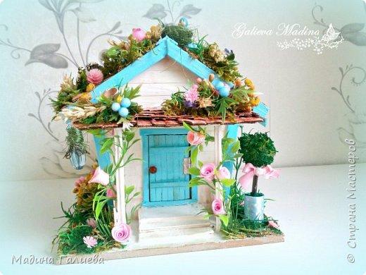 Всем привет! Спешу представить свою новую работу домик в миниатюре!!! Домик послужит не только украшением интерьера и оригинальным подарком, он также функциональный и светится как небольшой ночник. Все детальки выполнены вручную.  фото 7