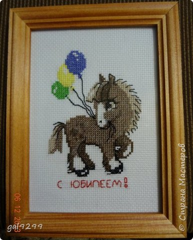 Такие вышивки делала на Год Лошади. Серая лошадка в снежинку. Схема от РИОЛИС.  фото 4