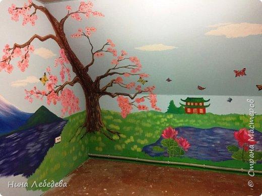 Недавно оформила стены в будущей  комнате девочки в японо-китайском стиле...вот, что вышло: фото 3