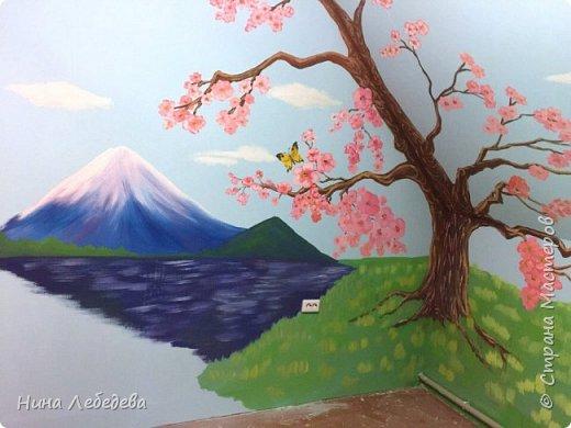 Недавно оформила стены в будущей  комнате девочки в японо-китайском стиле...вот, что вышло: фото 2