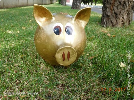 Доброго времени суток всем жителям Страны!Благодаря МК Наташи Грин у меня появилась такая свинка. фото 6