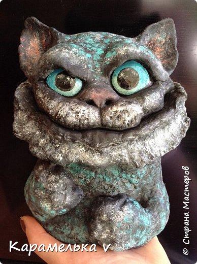 Мдя,теперь видимо коты это у меня надолго)))Чеширского кота мечтала давно слепить,но все как то не получалось...пока не появился вдохновитель,Вениамин!))) фото 2