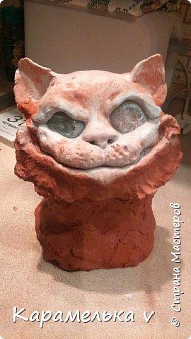 Мдя,теперь видимо коты это у меня надолго)))Чеширского кота мечтала давно слепить,но все как то не получалось...пока не появился вдохновитель,Вениамин!))) фото 4