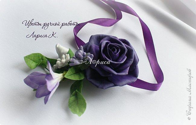 Свадебный набор в фиолетово-сиреневом цвете. фото 10