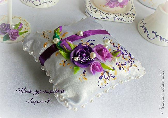 Свадебный набор в фиолетово-сиреневом цвете. фото 5