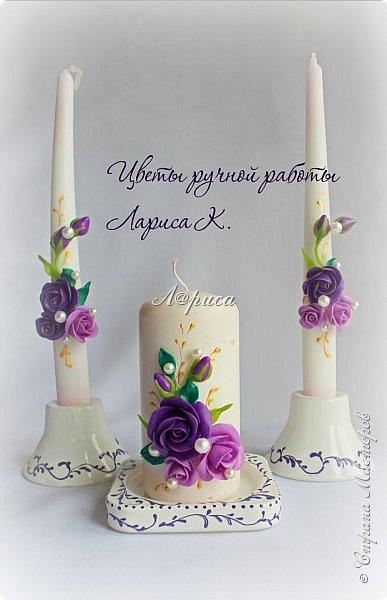 Свадебный набор в фиолетово-сиреневом цвете. фото 3