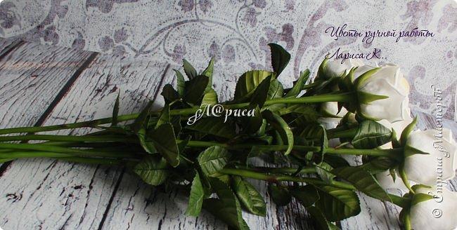 """Розы """"PROUD"""". Цветы и листья из фоамирана, стебель из холодного фарфора. фото 3"""