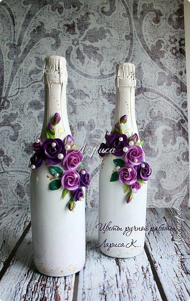 Свадебный набор в фиолетово-сиреневом цвете. фото 2