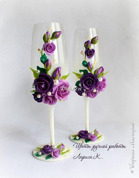 Свадебный набор в фиолетово-сиреневом цвете. фото 7