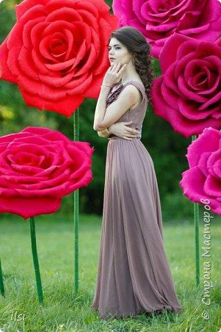 Работа прошлого года. Весной мало работы по оформлению свадеб, но рукам то хочется творить, хочется приблизить лето,  ярких красок и волшебства. Тогда и сотворились эти гигантики, 9 роз, диаметром от 70-ти и до 100 сантиметров.  фото 1