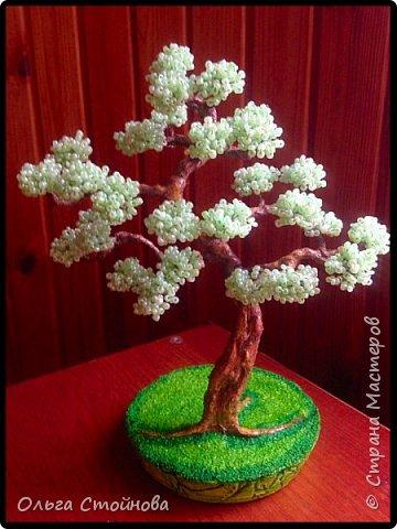 Деревья из бисера фото 8