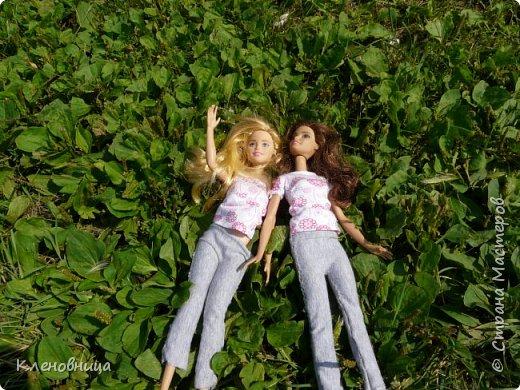 Здравствуйте, простите что давно не появлялась,не было интернета. У меня появились новые куклы и новый домик. Ждите блог со всем новым. (Я сижу печатаю ,а на улице снег идет .) С новенькими Виолой (слева) и Беллатрисой (справа) , я ходила летом в парк . Девушки вернулись жутко довольные. фото 6