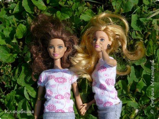 Здравствуйте, простите что давно не появлялась,не было интернета. У меня появились новые куклы и новый домик. Ждите блог со всем новым. (Я сижу печатаю ,а на улице снег идет .) С новенькими Виолой (слева) и Беллатрисой (справа) , я ходила летом в парк . Девушки вернулись жутко довольные. фото 8