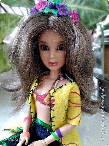 Всем привет:) Сегодня я вам покажу как сделать венок для куклы,из подручных материалов всего за 15 минут:) фото 1