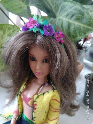 Всем привет:) Сегодня я вам покажу как сделать венок для куклы,из подручных материалов всего за 15 минут:) фото 16