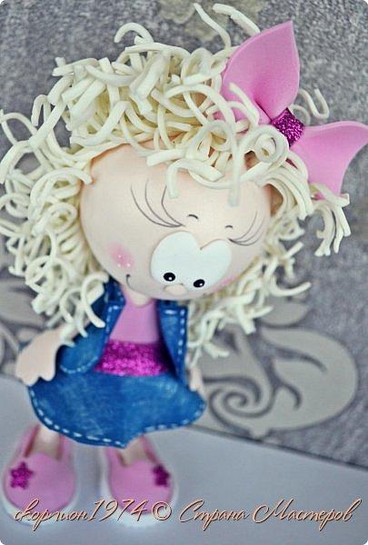 Всем добрый вечер! Давно хотелось показать Вам куколок из фома, которых делает моя дочка Рита на занятиях в студии под руководством мастера Елены. фото 2