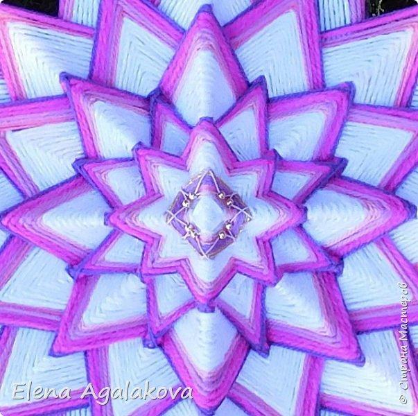 Седьмая чакра-мандала - Коронная чакра — Сахасрара. Лотос тысячи лепестков... Окончание моего проекта по плетению Чакр-мандал. Конечно тысячи лепестков я сплести не осилю... пока 48. фото 2