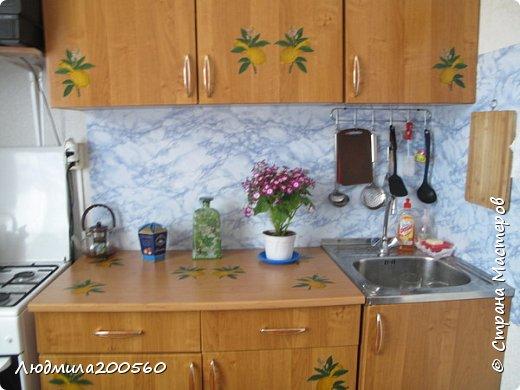 Таким стал кухонный гарнитур после реставрации. фото 2