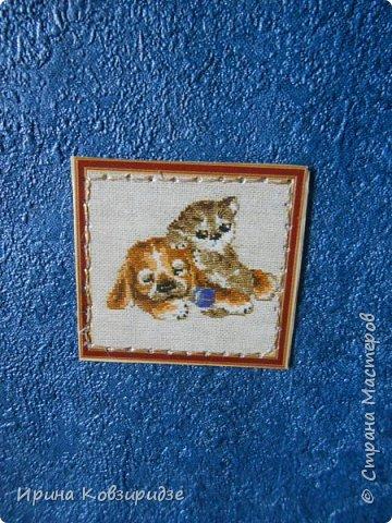Ещё 3 открытки из жизни кошек. Отделка кружево. Прострочка. фото 3