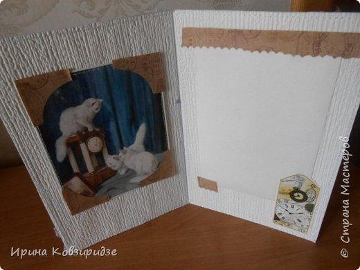 Ещё 3 открытки из жизни кошек. Отделка кружево. Прострочка. фото 8