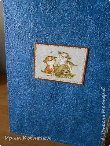 Ещё 3 открытки из жизни кошек. Отделка кружево. Прострочка. фото 11