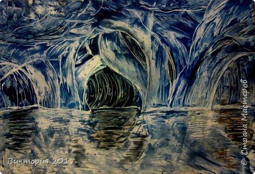 """""""Пещеры, отражение"""" Формат А4..  фото 1"""