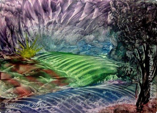 """""""Пещеры, отражение"""" Формат А4..  фото 4"""