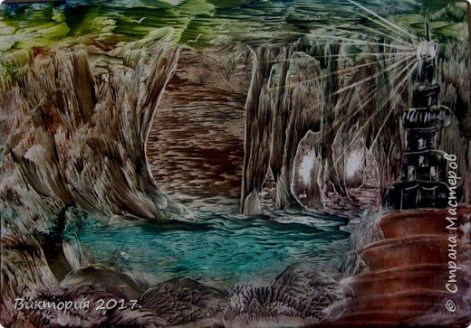 """""""Пещеры, отражение"""" Формат А4..  фото 3"""
