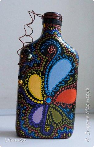 Точечная роспись бутылок фото 2