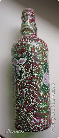 Точечная роспись бутылок фото 5