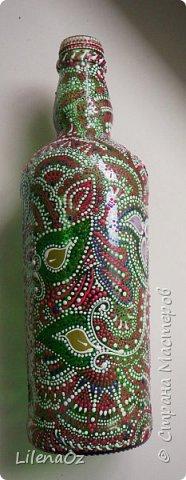 Точечная роспись бутылок фото 6
