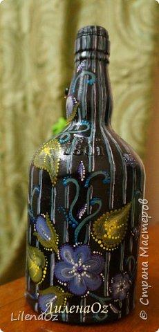 Точечная роспись бутылок фото 13