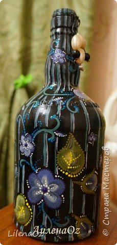 Точечная роспись бутылок фото 12