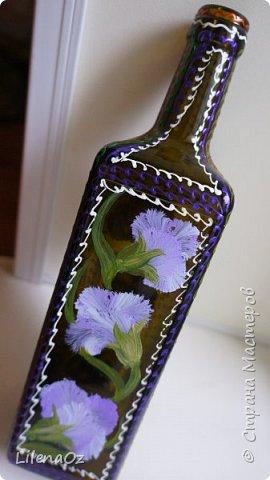 Точечная роспись бутылок фото 9