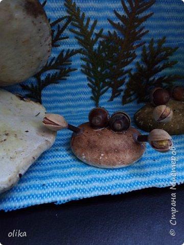 Вот и готова наша поделка из природных материалов, в этот раз фантазия нас привела на морское дно фото 3