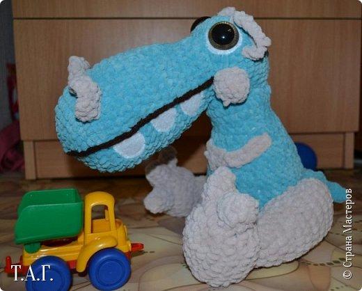 Новая работа дочери. Связала в  подарок для племянника, обожающего динозавров.  Венера не успевает сделать запись в блоге https://stranamasterov.ru/user/25826 ,  я решила помочь и загрузила на своей страничке. фото 10